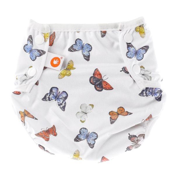 """XKKO - waschbare Schwimmwindel - One Size (4-15 kg) - """"Butterflies"""""""