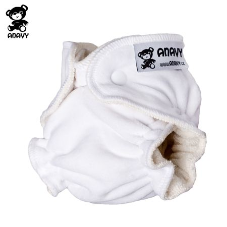 Anavy Höschenwindeln - Weiß - Newborn (2-6 kg)