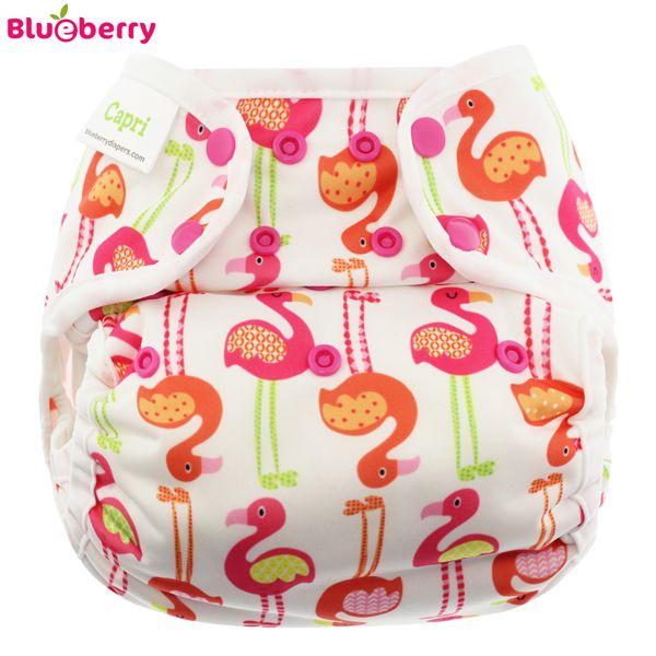 Blueberry Überhose Coveralls - Flamingo (Druckies)