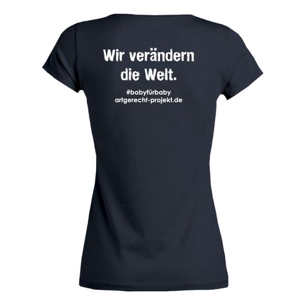 """artgerecht - T-Shirt (Damen - S bis XXL) - """"Wir verändern die Welt"""""""