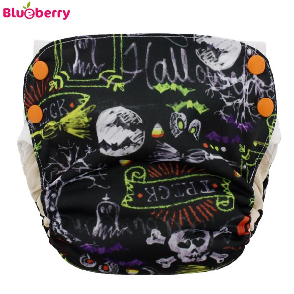 Blueberry Simplex 2.0 Side Snap (AIO) - Halloween (Bio-Baumwolle)
