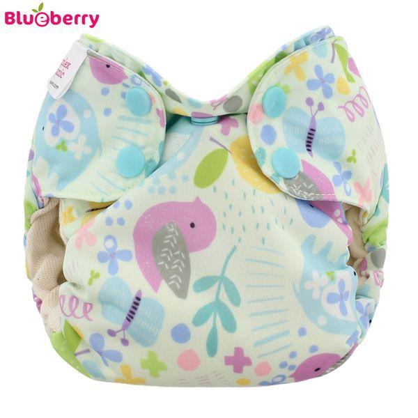 Blueberry - Simplex Newborn (AIO) - Bio-Baumwolle (GOTS) - Baby Birds