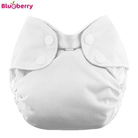Blueberry - Simplex Newborn (AIO) - Bio-Baumwolle (GOTS) - Weiß