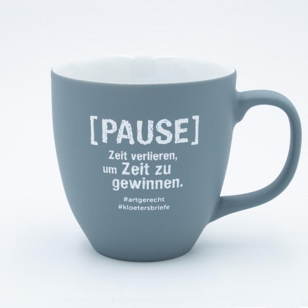 """artgerecht - """"Pause"""" Lieblingstasse (Hellgrau) - 460 ml"""