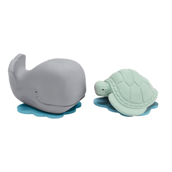 "Hevea - ""Ingolf & Dagmar"" (Wal & Schildkröte) - Geschenkset - Badespielzeug"