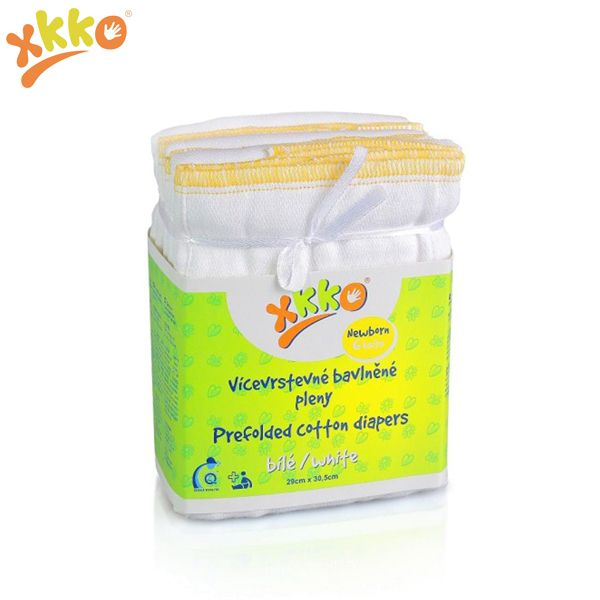 XKKO Prefolds - 100% Baumwolle - (6 Stück) - versch. Größen