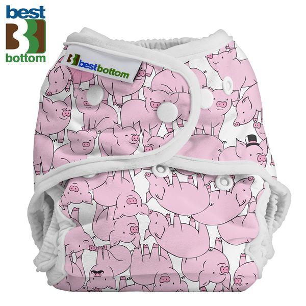 Best Bottom Diapers (PUL) Überhosen - BIGGER/XL (Druckies) - Schweinchen