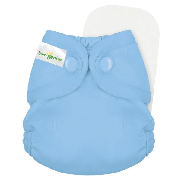 BumGenius - Littles 2.0 Newborn (2-6 kg) - Twilight (Hellblau)