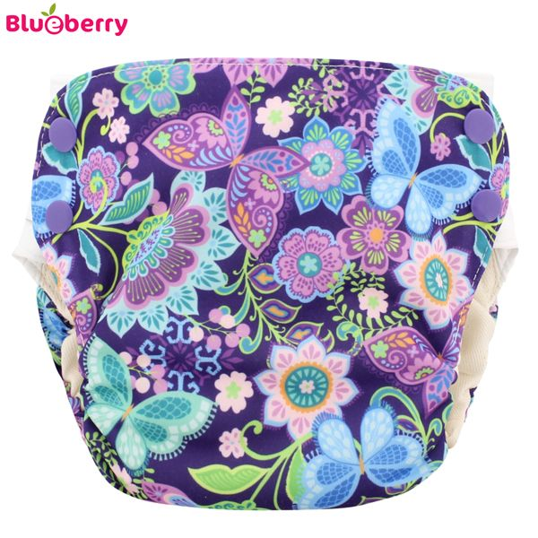 Blueberry Simplex 2.0 Side Snap (AIO) - Butterfly Garden (Bio-Baumwolle)