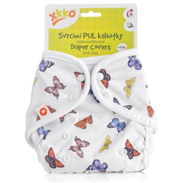 XKKO - Überhose (PUL) - One Size (4-15 kg) - Schmetterlinge
