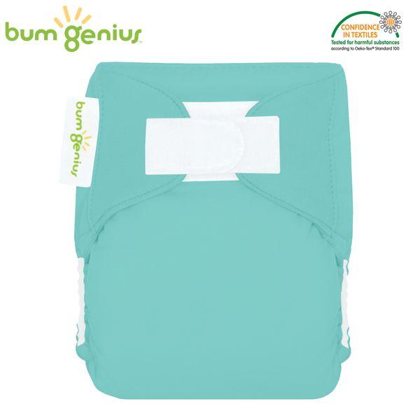 BumGenius Littles Newborn (AIO) - Mirror (Türkis)