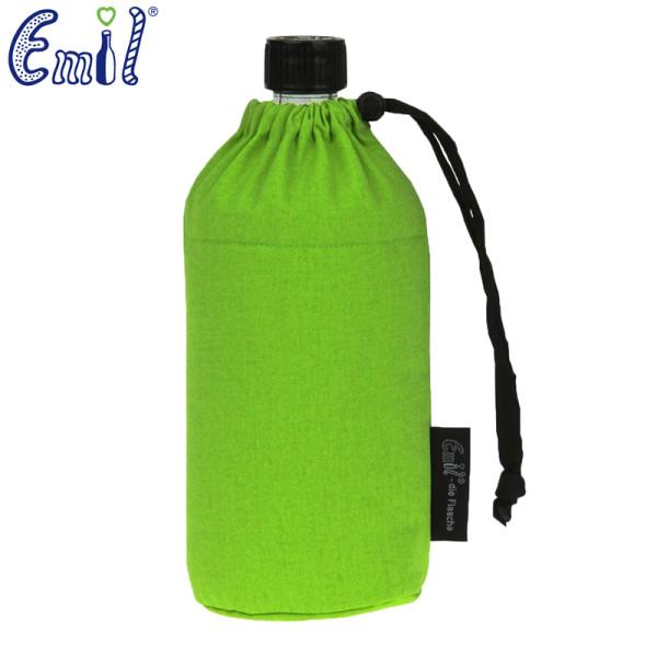Emil die Flasche (300ml) - Komplettset (Bio-Baumwolle-Überzug) - Grün