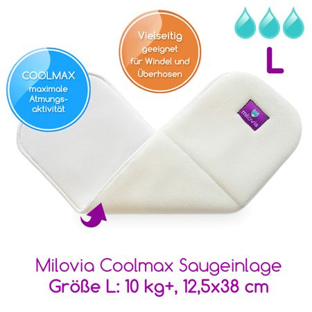Milovia - Coolmax Saugeinlagen