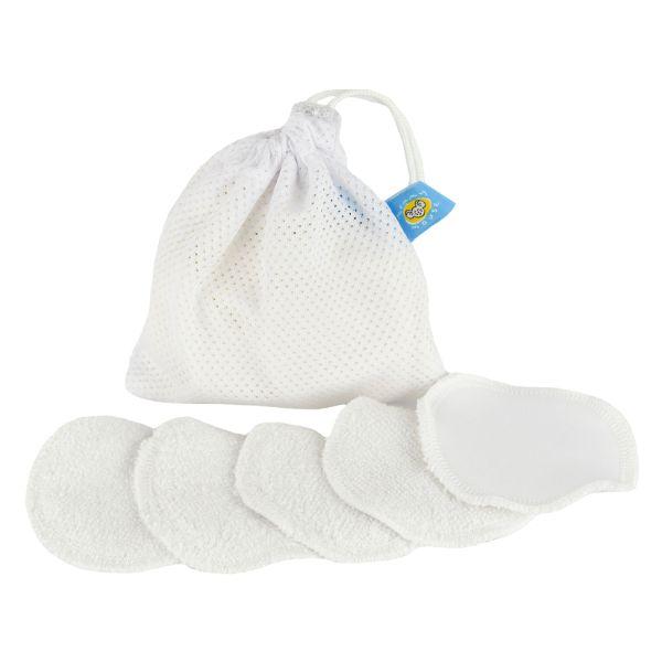 Mommy Mouse Waschbare Abschminkpads (Bambus-Viskose-Baumwoll-Mix) 5 Stück