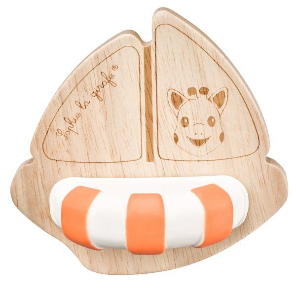 Sophie la girafe So'Pure - Sophies Boot Beißring (Geschenkkarton) - 100% natürliche Materialien