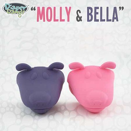 Diaper Dawgs - Molly und Bella - (Lila / Pink)