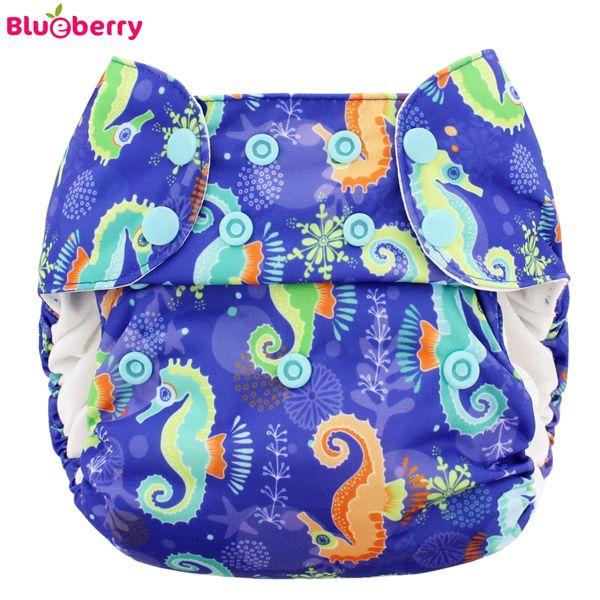 Blueberry Simplex One Size (AIO) - Seahorses (Druckies)
