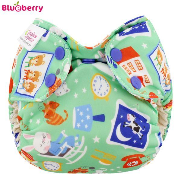 Blueberry - Simplex Newborn (AIO) - Bio-Baumwolle (GOTS) - Bedtime Story