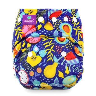 Milovia - Microfleece Pocketwindel (One Size) - Juicy Fruits