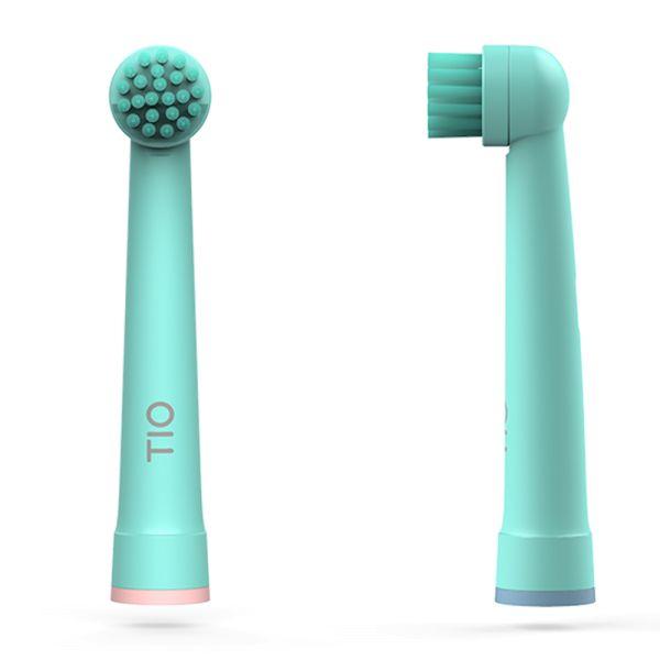 Tiomatik - nachhaltige Aufsteckköpfe für elektrische Zahnbürsten (2 Stück)