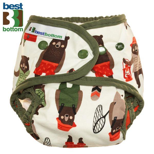 Best Bottom - Überhose (SIO) One Size (3-16 kg) - Baumwolle - Brawny Bears