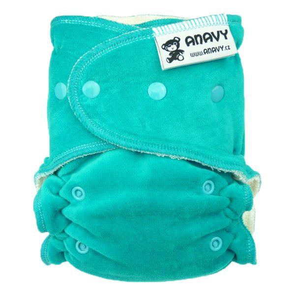Anavy - Höschenwindel (XL-Nachtwindel) 7-18 kg - (ohne Einlagen) - Jade (Blau)