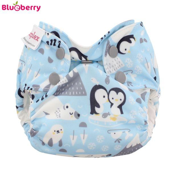 Blueberry Simplex Newborn (AIO) - Bio-Baumwolle GOTS - Ice Cap