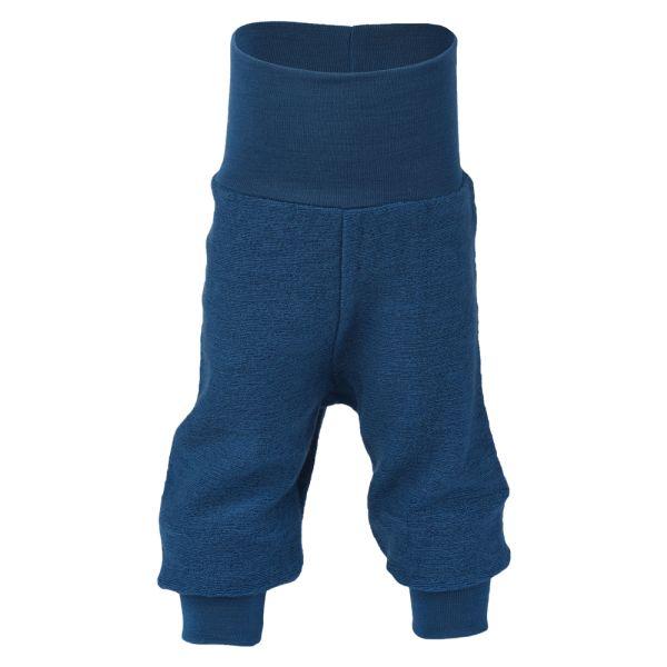 Engel - Lange Baby- und Kinder-Wollüberhose (100% Schurwolle Bio-Merino) - Marineblau