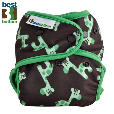 Best Bottom Diapers (PUL) Überhosen - One Size - Grüne Giraffen