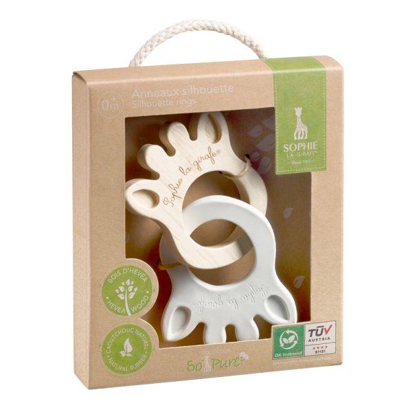 Sophie la girafe So'Pure - Silhouette Beißringe (100% natürliche Materialien) - Geschenkartikel