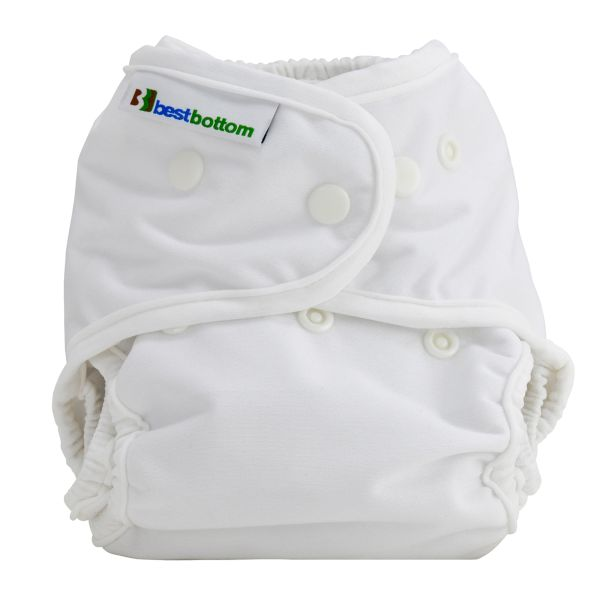 "Best Bottom Diapers (PUL) Überhosen - One Size - Einfarbig - ""Weiß"""