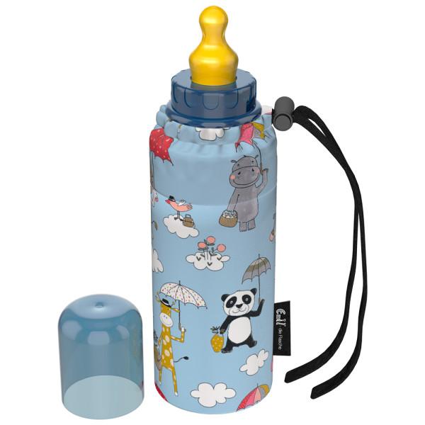 Emil - Babyflasche (250ml) - Komplettset - Umbrellas (Bio-Baumwolle)