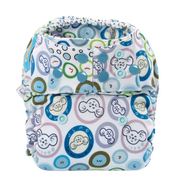 Mommy Mouse Komplettwindel (AIO) One Size (6-16 kg) Bubble Gum