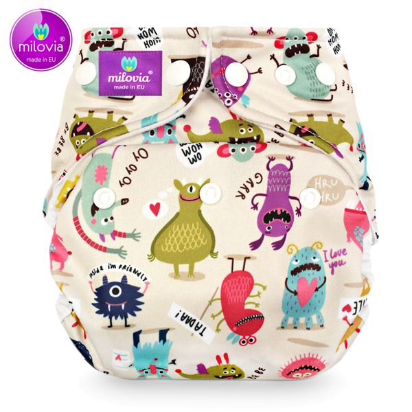 Milovia - Microfleece Pocketwindel (One Size) - Tadaa Monsters
