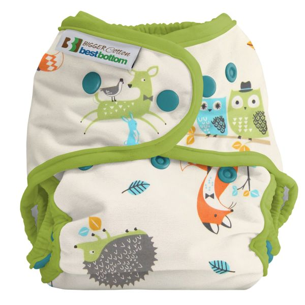 Best Bottom Diapers (Baumwolle) Überhosen - BIGGER/XL (Druckies) - Hedgie Love