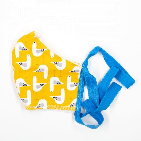 Anavy Wiederverwendbare Atem- und Hygienemaske Größe M - Möwe (Gelb)