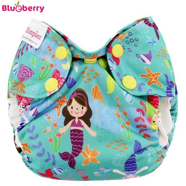 Blueberry Simplex Newborn (AIO) - Mermaids - (Bio-Baumwolle)