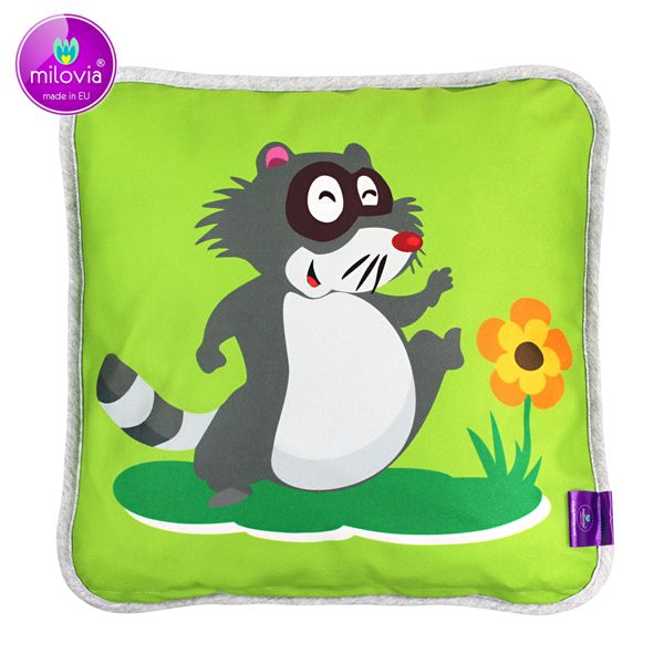 Milovia Milopiq® - Kids Kissen - Happy Racoon (40x40 cm)