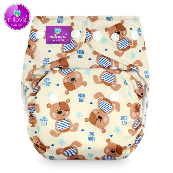 Milovia - Coolmax Pocketwindel (One Size) - Cute Teddy