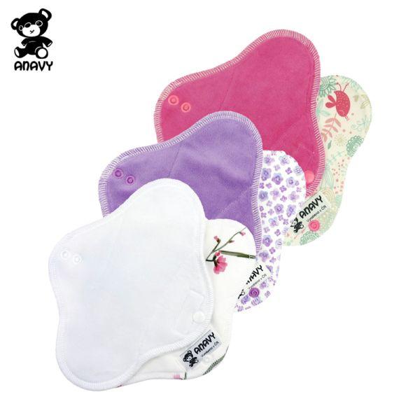 Anavy - Damenbinden aus Stoff (Baumwoll-Velours) - Tag (Midi / Medium)