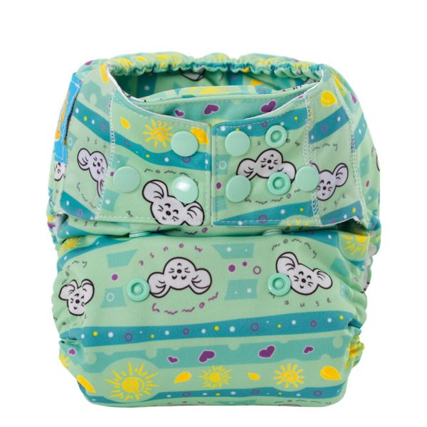 Mommy Mouse Komplettwindel (AIO) One Size (6-16 kg) Sunshine