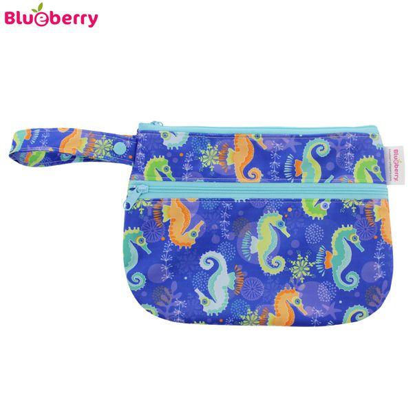 Blueberry - Diaper Clutch Handtasche/Wetbag - S (20x28cm)