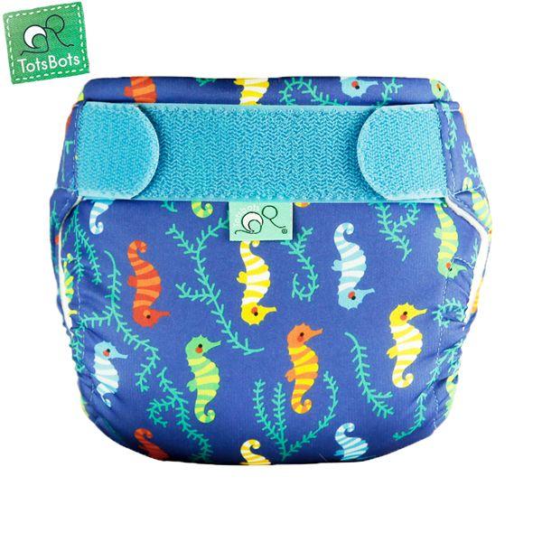 TotsBots - SwimTots - Schwimmwindel (Badewindel) - Seahorses