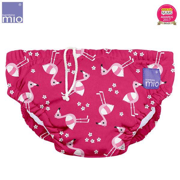 Bambino Mio - waschbare Schwimmwindel - Pink Flamingo (S-XL)