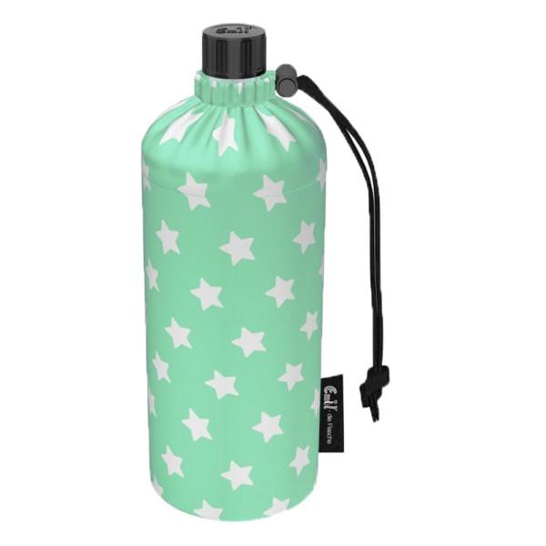 Emil die Flasche (300ml) Komplettset (Bio-Baumwolle-Überzug) Sterne Mint