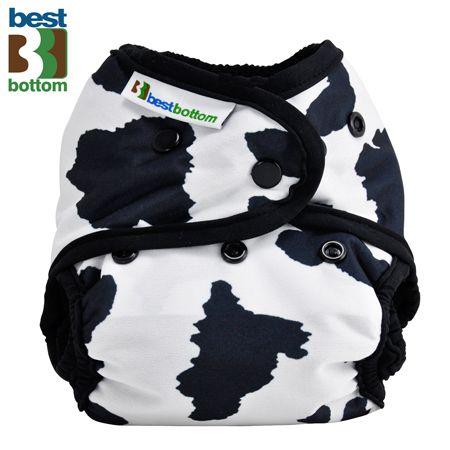 Best Bottom Diapers (PUL) Überhosen - One Size - Muh Kuh