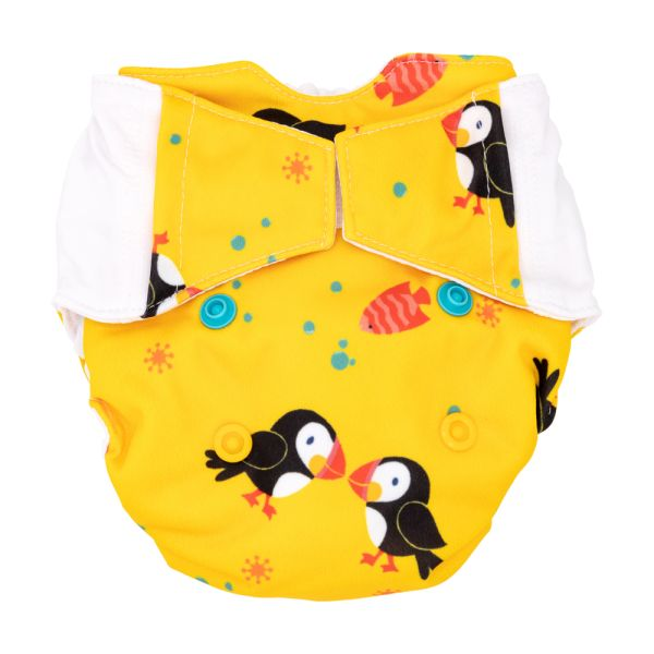 Mommy Mouse - Komplettwindel (AIO) - Newborn (2,5-7 kg) - Puffins
