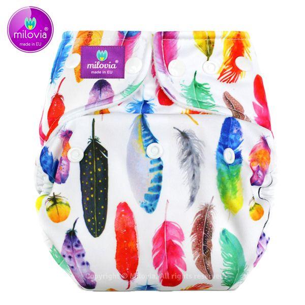 Milovia - Überhose (Prefold) - Gorgeous Feathers