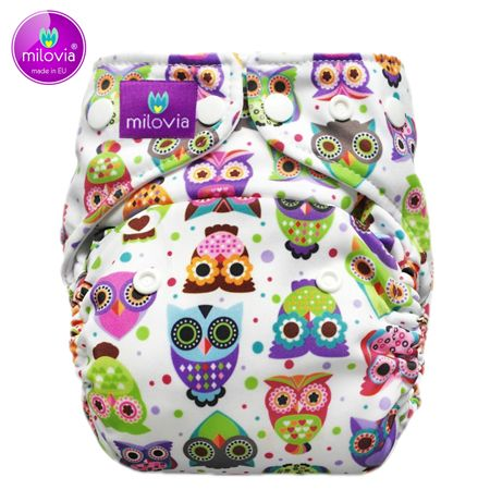 Milovia Mikrofleece Pocketwindel One Size - Lovely Owls