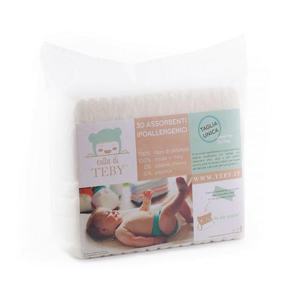 Culla di Teby - Einweg-Einlagen (30 Stück pro Packung) - parfümfrei, plastikfrei, kompostierbar